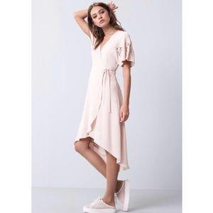 ASTR The Lable Midi Wrap Dress
